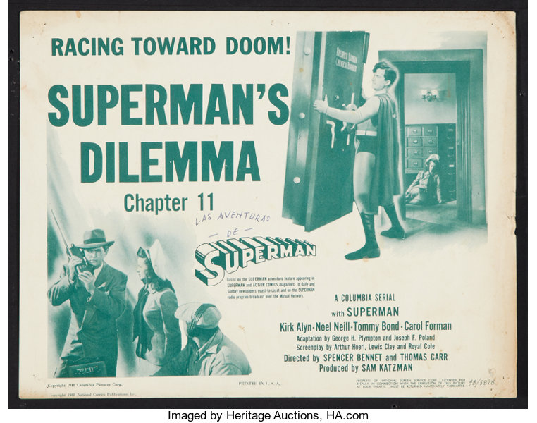 Image result for images of 1948 chapter serial superman