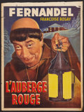 """Movie Posters:Comedy, The Red Inn Lot (Cocinor, 1951). Belgian Posters (2) (14"""" X 18.75"""")and (14.25"""" X 21.5""""). Comedy.. ... (Total: 2 Items)"""