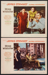 "Rear Window (Paramount, 1954). Lobby Cards (2) (11"" X 14""). Hitchcock. ... (Total: 2 Items)"