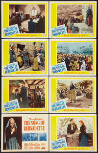 """The Song of Bernadette (20th Century Fox, R-1954). Lobby Card Set of 8 (11"""" X 14""""). Drama. ... (Total: 8 Items..."""