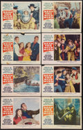 "Movie Posters:Adventure, Reap the Wild Wind (Paramount, R-1954). Lobby Card Set of 8 (11"" X14""). Adventure.. ... (Total: 8 Items)"