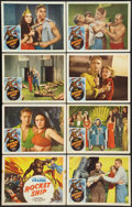 """Movie Posters:Serial, Flash Gordon (Filmcraft, R-1950). Lobby Card Set of 8 (11"""" X 14"""").Serial. Reissued as Rocket Ship.. ... (Total: 8 Items)"""