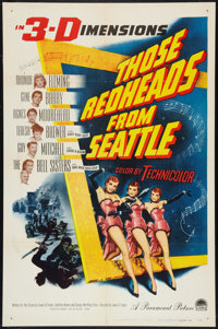 "Those Redheads From Seattle (Paramount, 1953). One Sheet (27"" X 41"") 3-D Style. Musical"