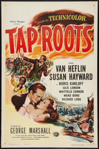 "Tap Roots (Universal International, R-1956). One Sheet (27"" X 41"") and Lobby Card Set of 8 (11"" X 14""..."