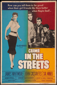 "Crime in the Streets Lot (Allied Artists, 1956). Posters (2) (40"" X 60""). Crime. ... (Total: 2 Items)"