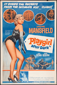 "Playgirl After Dark (Topaz, 1961). Poster (40"" X 60""). Sexploitation"