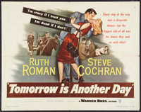 "Tomorrow is Another Day (Warner Brothers, 1951). Half Sheet (22"" X 28""). Film Noir"