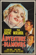 "Movie Posters:Crime, Adventure in Diamonds (Paramount, 1940). One Sheet (27"" X 41"")Style A. Crime.. ..."