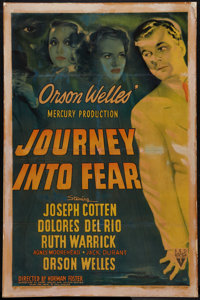 "Journey into Fear (RKO, 1942). One Sheet (27"" X 41""). Film Noir"