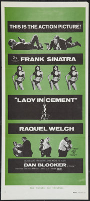 """Lady in Cement Lot (20th Century Fox, 1968). Australian Daybills (2) (13"""" X 30""""). Crime. ... (Total: 2 Items)"""