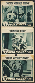 """Movie Posters:Serial, Buck Rogers (Universal, 1939). Lobby Cards (3) (11"""" X 14""""). Chapter7 -- """"Primitive Urge,"""" and Chapter 9 -- """"Bodies Without ... (Total:3 Items)"""