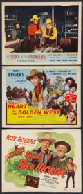 """Movie Posters:Western, Young Bill Hickok Lot (Republic, R-1949). Title Lobby Cards (2)(11"""" X 14"""") and Lobby Card (11"""" X 14""""). Western.. ... (Total: 3Items)"""