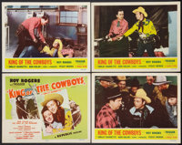 "King of the Cowboys (Republic, R-1955). Title Lobby Card and Lobby Cards (3) (11"" X 14""). Western. ... (Total:..."