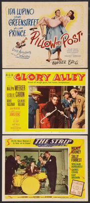 "The Strip Lot (MGM, 1951). Title Lobby Card (11"" X 14"") and Lobby Cards (2) (11"" X 14""). Film Noir..."