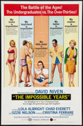 "Movie Posters:Comedy, The Impossible Years Lot (MGM, 1968). One Sheets (2) (27"" X 41"").Comedy.. ... (Total: 2 Items)"