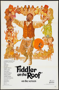"""Fiddler on the Roof (United Artists, 1972). Flat Folded One Sheet (27"""" X 41""""). Musical"""