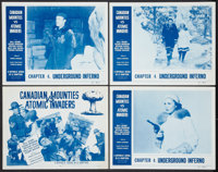 """Canadian Mounties vs. Atomic Invaders (Republic, 1953). Lobby Card Set of 4 (11"""" X 14""""). Chapter 4 -- """"Un..."""