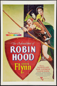 "The Adventures of Robin Hood (United Artists, R-1976). One Sheet (27"" X 41""). Swashbuckler"