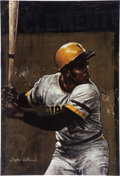 Baseball Collectibles:Others, Circa 2000 Roberto Clemente Limited Edition Giclee by Stephen Holland....