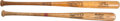 Baseball Collectibles:Bats, 1971-72 Willie Stargell & 1983 Ozzie Smith Game Used Bats....