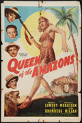 """Movie Posters:Adventure, Queen of the Amazons (Screen Guild Productions, 1947). One Sheet(27"""" X 41""""). Adventure.. ..."""