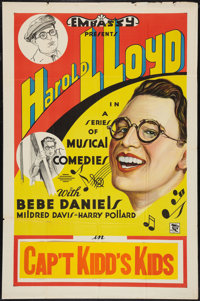 "Harold Lloyd Stock Poster (Embassy, R-Early 1930s). One Sheet (27"" X 41"") ""Captain Kidd's Kids."" Com..."