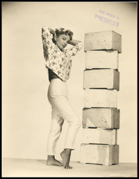 """Anne Baxter (1950s). Proof Photos (2) (10.25"""" X 13.25""""). ... (Total: 2 Items)"""