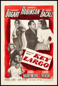 "Key Largo (Warner Brothers, 1948). One Sheet (27"" X 41""). Film Noir"