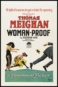 "Woman-Proof (Paramount, 1923). One Sheet (27"" X 41"") Style A. Comedy"