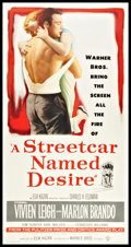 "Movie Posters:Drama, A Streetcar Named Desire (Warner Brothers, 1951). Three Sheet (41""X 81""). Drama.. ..."