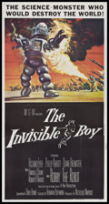 """Movie Posters:Science Fiction, The Invisible Boy (MGM, 1957). Three Sheet (41"""" X 81""""). ScienceFiction.. ..."""