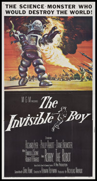 "The Invisible Boy (MGM, 1957). Three Sheet (41"" X 81""). Science Fiction"