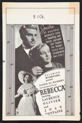 """Movie Posters:Hitchcock, Rebecca (Selznick International, R-1949). Herald (Multiple Pages)(6"""" X 9"""") Hitchcock.. ..."""