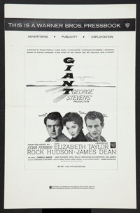 "Giant (Warner Brothers, R-1963). Pressbooks (2) (Multiple Pages) (11"" X 17"") and (14"" X 18""). Drama..."
