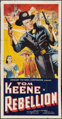 "Rebellion (Crescent Pictures, 1936). Three Sheet (41"" X 81""). Western"