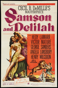 "Samson and Delilah (Paramount, 1949). One Sheet (27"" X 41""). Adventure"