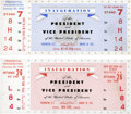 Miscellaneous Collectibles:General, 1953 Dwight D. Eisenhower Presidential Inauguration Full TicketsLot of 2....