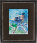 Baseball Collectibles:Others, 1987 Lenny Dykstra Personally Owned Original Artwork by LeRoyNeiman....