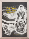 Autographs:Others, Circa 1953 Mickey Mantle Oversized Rawlings Advertising Sign,Autographed....