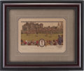 Golf Collectibles:Autographs, 1930 Bobby Jones Signed Currier & Ives Print....