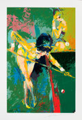 Mainstream Illustration, LEROY NEIMAN (American, b. 1926). Playboy Bunnies Play Pool.Serigraph. 27.75 x 18 in.. Pencil signed lower right. ...