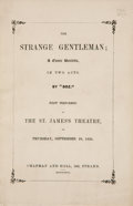 "Books:First Editions, Charles Dickens. The Strange Gentleman; a Comic Burletta,in Two Acts. By ""Boz."" London: Chapman and Hall, 1837 ..."