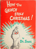 Books:First Editions, Dr. Seuss. How the Grinch Stole Christmas. New York: RandomHouse, [1957]....
