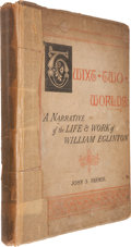 Books:First Editions, John S. Farmer. 'Twixt Two Worlds. London: PsychologicalPress, 1886. First edition. Frontispiece signed by Eglint...