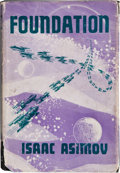 Books:First Editions, Isaac Asimov. Foundation. London: Weidenfeld & Nicolson,[1953]. First UK edition. Octavo. 246 pages. Publisher'...