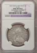 Early Half Dollars: , 1806 50C Pointed 6, Stem--Improperly Cleaned--NGC Details. Fine.O-125. NGC Census: (40/1326). PCGS Population (53/794). M...