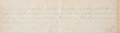 """Autographs:Military Figures, Robert E. Lee General Orders No. 59 Signed """"R E Lee/ Genl"""", with corrections to the text in Lee's hand. One and one-four..."""