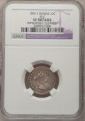 Early Dimes: , 1805 10C 4 Berries--Improperly Cleaned--NGC Details. VF. JR-2. NGCCensus: (9/188). PCGS Population (24/206). Mintage: 120...