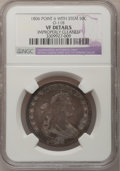 Early Half Dollars: , 1806 50C Pointed 6, Stem--Improperly Cleaned--NGC Details. VF.O-118. NGC Census: (60/1221). PCGS Population (74/651). Min...