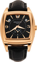 Timepieces:Wristwatch, Patek Philippe Rare Ref. 5135R-010 Rose Gold Gondolo Calendario President, Limited Series Of 100 Sets Produced For Mercury Of ...